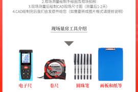 广州佛山上门量尺服务_测量现场绘制CAD尺寸图纸