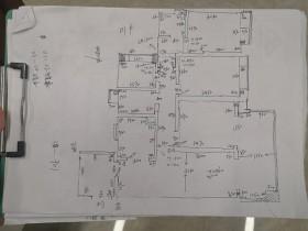 广州佛山上门量房代画户型尺寸图房子CAD原始结构图纸